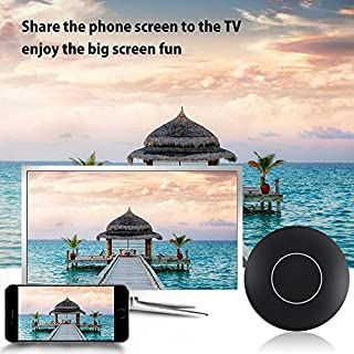WIFI Display Dongle, Auoker 2017 WiFi Wireless 1080P Mini Display Receiver HDMI TV Miracast DLNA Airplay for IOS/Android/Windows/Mac, Black (Q1)