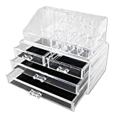 Autoark Design Acrylic Jewelry & Cosmetic/Makeup Organizer Set (1 top 4 Drawers),Jewelry and Cosmetic Storage,AMKU-001