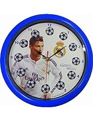 Horloge Pendule Murale officielle de Réal Madrid Christiano Ronaldo – Marchandise officielle du Réal de Madrid avec griffe