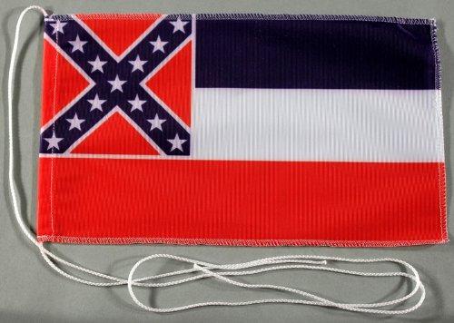 Mississippi USA Bundesstaat 15x25 cm Tischflagge in Profi - Qualität Tischfahne Autoflagge Bootsflagge Motorradflagge Mopedflagge