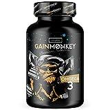 Original GAINMONKEY OMEGA 3 1000 mg | Hochdosiert mit 18% EPA & 12% DHA | Omega 3 Fischöl für Männer und Frauen | Fischölkapseln
