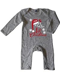 Mikalino Baby Schlafanzug My First Christmas 2016 langarm