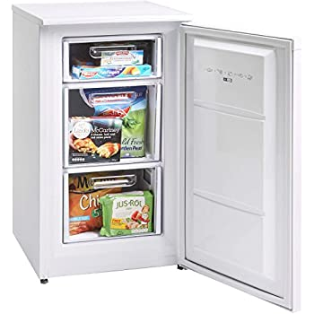 montpellier mzf48w 48cm wide freestanding freezer white. Black Bedroom Furniture Sets. Home Design Ideas