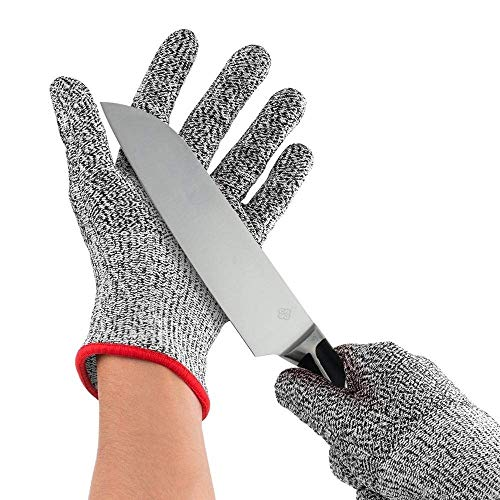 QONEXA Cut Resistant Gloves for Protection from Knives Scissors Vegetable Peelers (1 Pair)