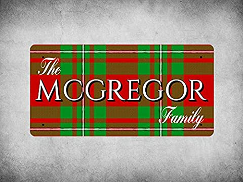 WP_CLAN_240 The MCGREGOR Family (MacGregor Modern Tartan) - Metal Wall Plate