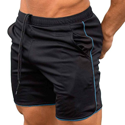 Zerama Sommer-Männer Shorts Kalb Länge Fitness Bodybuilding Fitnessstudios Jogger Kurze Hosen Jogginghose Laufhose - Kalb Länge Hosen