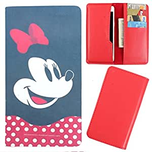 DooDa - For Videocon Infinium Z45 Nova+ PU Leather Designer Fashionable Fancy Case Cover Pouch With Card & Cash Slots & Smooth Inner Velvet