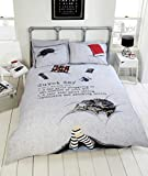 Duvet Day Teenagers Fun New Novelty Quilt Duvet Cover and Pillowcase Bedding Set, Polyester-Cotton, Multi-Colour, Single