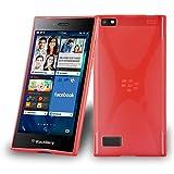 Blackberry LEAP Silikon-Hülle in ROT von Cadorabo - X-Line
