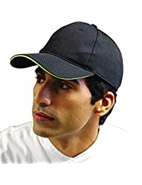 f68fccb62ed59 Black with Lime Trim Colour by Chef Works Cool Vent Baseball Cap Black with  Lime One