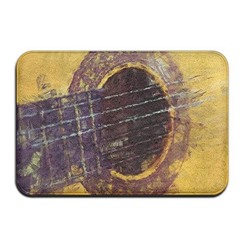 Reversible Patio-mat (ZHIZIQIU Indoor Door Mats with Acoustic Guitar Art Graphic for Patio Or Entryway)