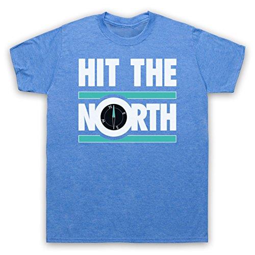 Inspiriert durch Fall Hit The North Unofficial Herren T-Shirt Jahrgang Blau