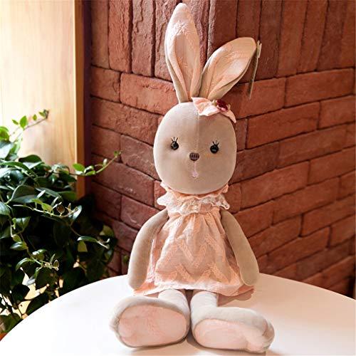 Miss Zhang's shop Peluche, Comodo Cuscino per Bambole in Peluche, Giochi per Adulti per Bambini, Simpatico Coniglietto 70Cm Rosa
