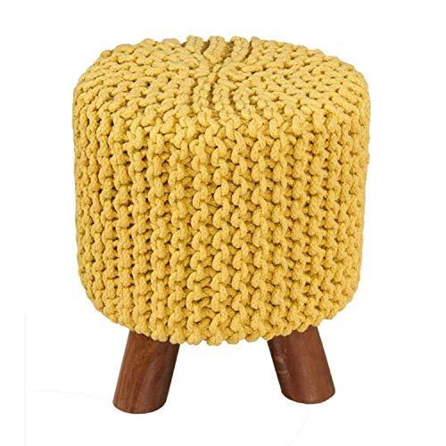 Keraiz - Reposapiés de Punto (algodón, tamaño pequeño), Color Amar