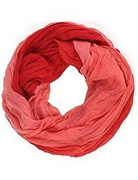 Distressed Écharpe-tube ronde chiffonnée Plusieurs couleurs en dégradé de couleur Pour printemps/été pour femme foulard