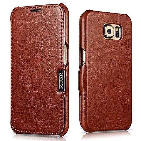 Samsung Galaxy S7 Leather Case, Vintage Series Luxury Genuine Leather
