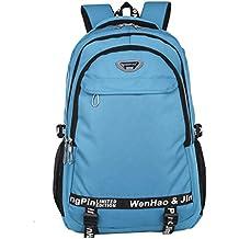Mochila de senderismo súper moderna, mochila escolar impermeable de nailon, para deportes, ordenadores