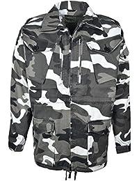 Mens Cargo Combat Camouflage Long Sleeve Jacket Multi Pockets