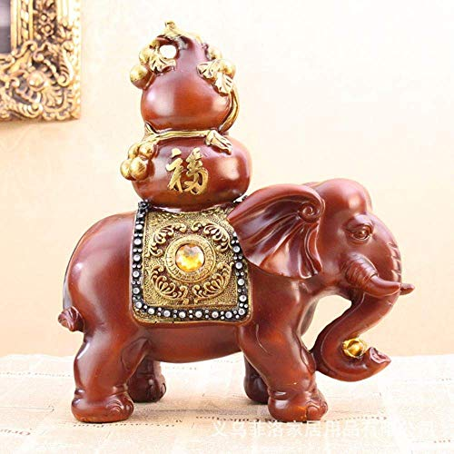 PA Ornamente Statuen Dekorationen Figur Skulptur Großhandel 2 Stücke Harz Elefant Auspicicrafts Business Von Einrichtungszubehör Ff291