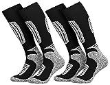 Mueller-Socken 2 Paar Ski-Socken für Damen und Herren in 4 Farben 39/42,schwarz
