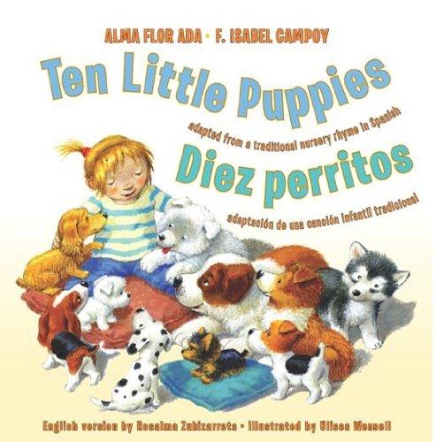 Ten Little Puppies/Diez perritos: Bilingual Spanish-English (English Edition)