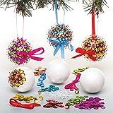 """Baker Ross Christbaumkugel-Bastelsets """"Pailletten"""" für Kinder – für weihnachtliche Bastelarbeiten und Dekorationen (3 Stück)"""