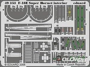 Eduard Accessories 4935330502000F de 18E Super Hornet ewto para Hasegawa Montar