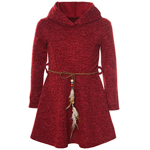 BEZLIT Mädchen Kleid Kostüm Kapuze Peticoat Festkleid Langarm 21578, Farbe:Rot, Größe:140