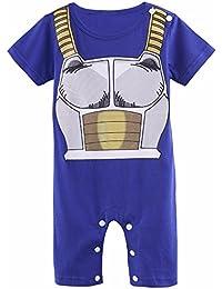 Vêtement Bébé Super Héro DBZ| Body Pyjama enfant | Déguisement Végéta | Costume original et rigolo | 100% Coton