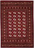 CarpetFine: Pakistan Buchara Teppich 160x230 cm Rot - Ornament