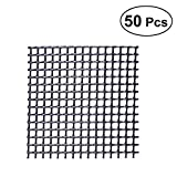 OUNONA 50Pcs Plastikblumen Topf Maschen Auflage verhindern Boden Verlust undurchlässige Auflage Rostschutz Breathable Netz