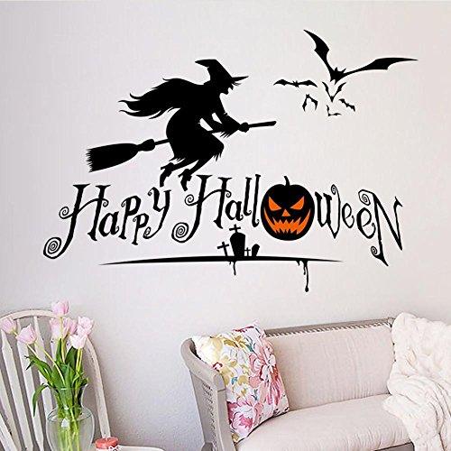 ZTYR Impermeabile Halloween Wall Decor cranio zucca PVC autoadesivo della