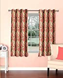 Skipper Floral Polyester Window Curtain ...