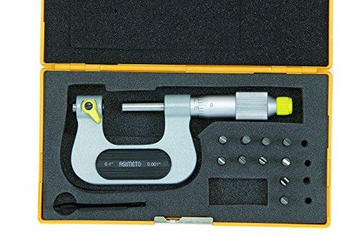 Bügelmessschraube 0-25 mm für Gewindemessungen inkl. 5 auswechselbare Messeinsätzen, IP65, 133-01-0