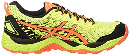Asics Gel-Fujitrabuco 5, Scarpe da Ginnastica Uomo Giallo (Safety Yellow/Shocking Orange/Black)