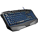 TeckNet Gryphon LED Illuminated Programmable Gaming Keyboard with Water-Resistant Design, UK Layout