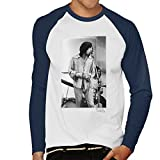 Willie Christie Official Photography - Rolling Stones Mick Jagger Apple Studios London White Men's Baseball Long Sleeved T-Shirt