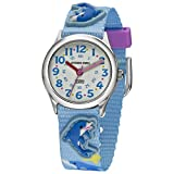 JACQUES FAREL HCC3137 Delphine - Delfine Uhr Kinderuhr Textilband Edelstahl 30m Analog mehrfarbig