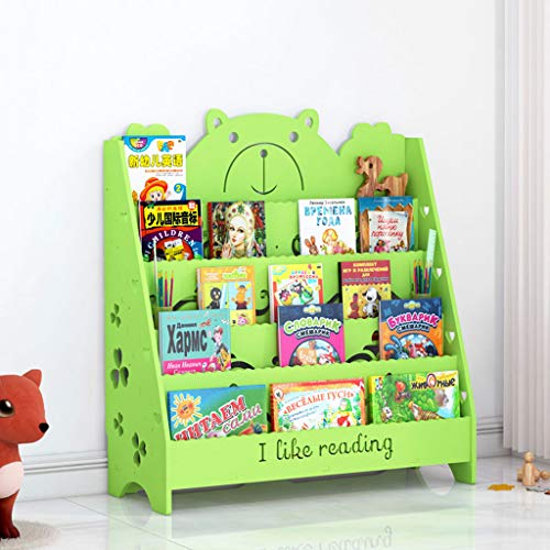 PLL Karikatur Geschnitzte Bilderbuch-Regal der Kinder Wohnzimmer-Boden-Buch-Ausstellungsstand-Schullesungs-Bücherregal (Size : M)