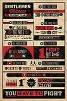 MoviePosterDirect Poster inspiré du film Fight Club avec règles du Fight Club en anglais 61 x 92 cm