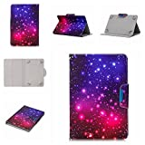 JIan Ying 10.1 Universel Tablette Housse- Cuir Support Folio Cover Magic Leather Protector pour Accueillir tous les 10.1&10 Tab Coque, Asus, Acer, Samsung, Huawei, Lenovo Starry sky