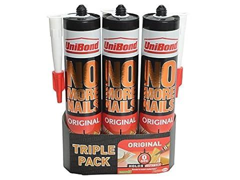 3X UniBond 1426045 No More Nails Interior Cartridge (Triple Pack)