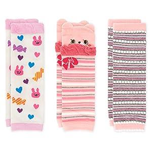 Ateid 3 pares Calentadores de pierna Calcetines Rodillera Bebé Niñas de 1 a 3 años 3