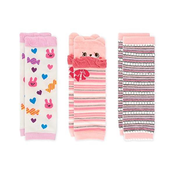 Ateid 3 pares Calentadores de pierna Calcetines Rodillera Bebé Niñas de 1 a 3 años 1