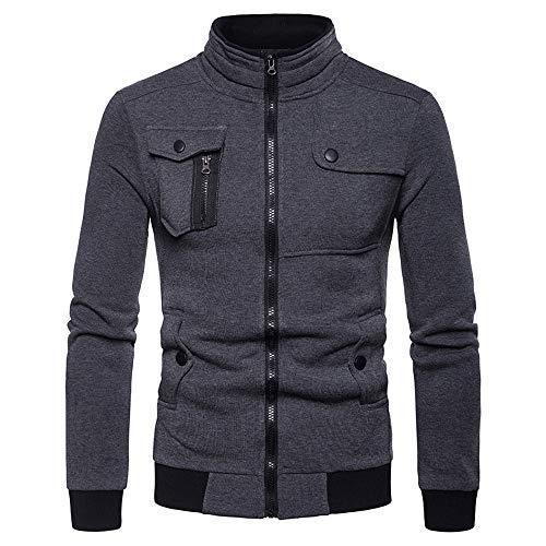 Amcool 2019 Sweaterjacke Fleecejacke Pullover Herren Fleece Jacke Full Zip Outdoor Wander Trekking Ohne Kapuze mit Stehkragen und Reißverschluss - Best Full Zip Hooded Sweatshirt