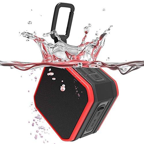 Altoparlante Bluetooth 4.2 Portatili Cassa Stereo Altoparlante Impermeabile da Doccia IPX7,Microfono per Chiamate, Speaker Ricaricabile Per iPhone, iPad, Samsung, Huawei e Altri (Rosso)