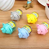 #8: Cute Newest Elephant Look Pencil Sharpener School Stationary for Kids/B'day Return Gifts- Pack of 12 Pcs./lot