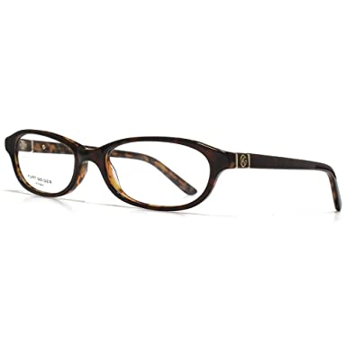 774be3fdf787b Kurt Geiger Abigail Classic Petite Oval Acetate Glasses in Brown With  Tortoiseshell Interior KGS003-BRN 51 Clear  Amazon.co.uk  Clothing