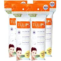 TULIPS Round Cotton Pads of 4 (50's, 200 Pieces) 2 Pack of 4, Get Fun Foil