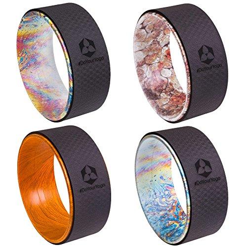 Yoga Rad »Giada« in verschiedenen Graffiti-Designs zur Verbesserung der Flexibilität bei Yogaübungen. Ideales Yogazubehör (engl. Yoga Wheel) zur...